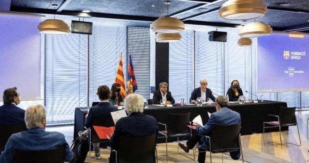 La primera reunión de la Fundación Barça desde el nuevo mandato de Joan Laporta