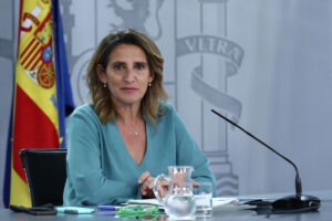 La ministra para la Transición Ecológica y el Reto Demográfico, Teresa Ribera