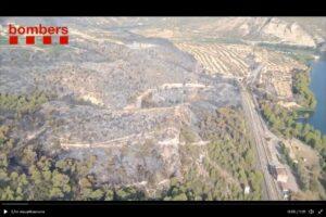 El incendio forestal de la Pobla de Massaluca (Terra Alta)