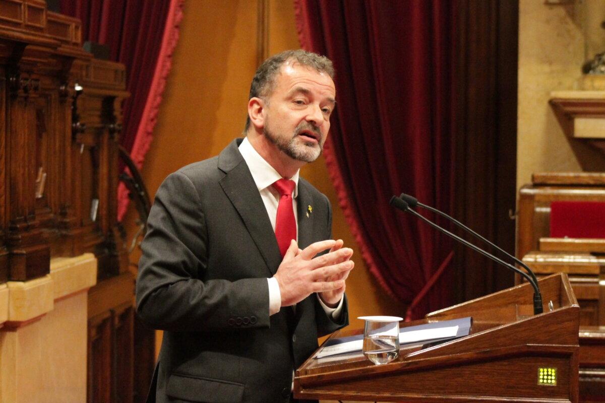 Alfred Bosch, en el Parlamento catalán