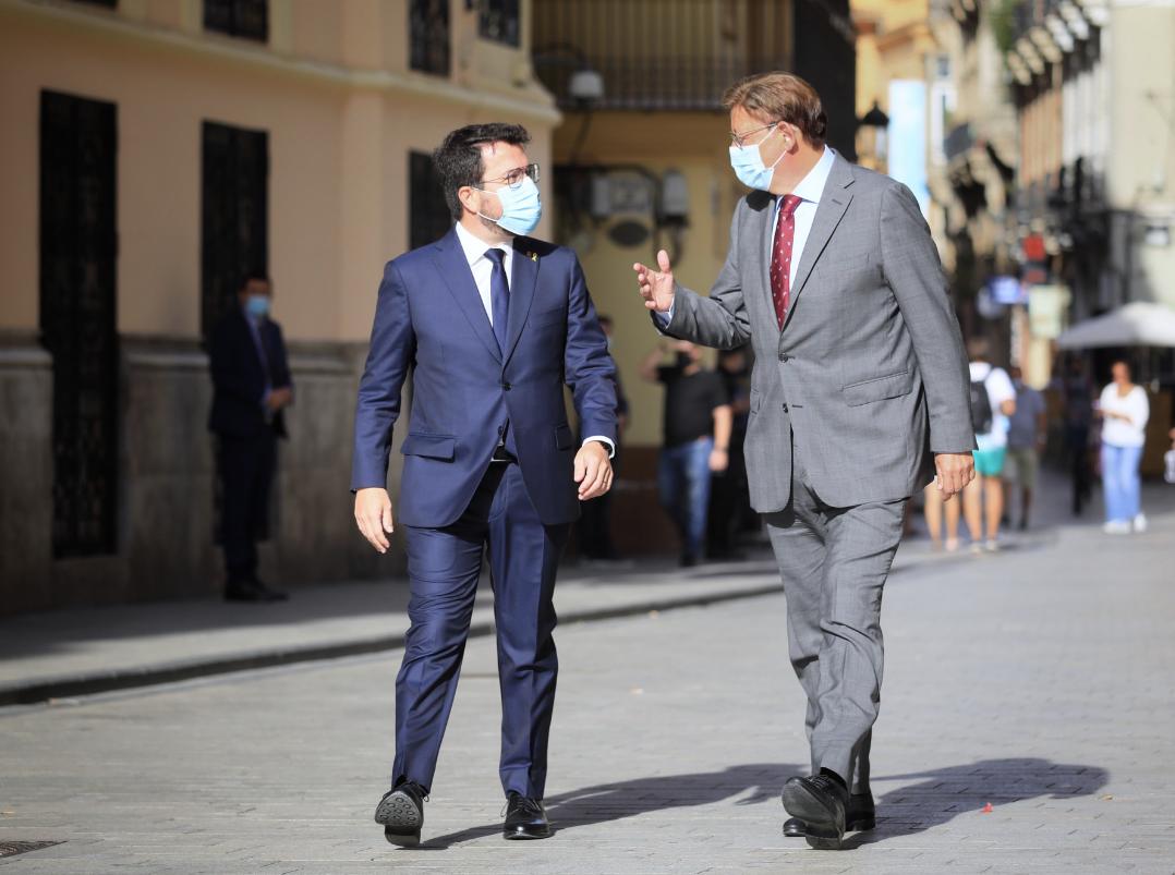Els presidents Pere Aragonès i Ximo Puig