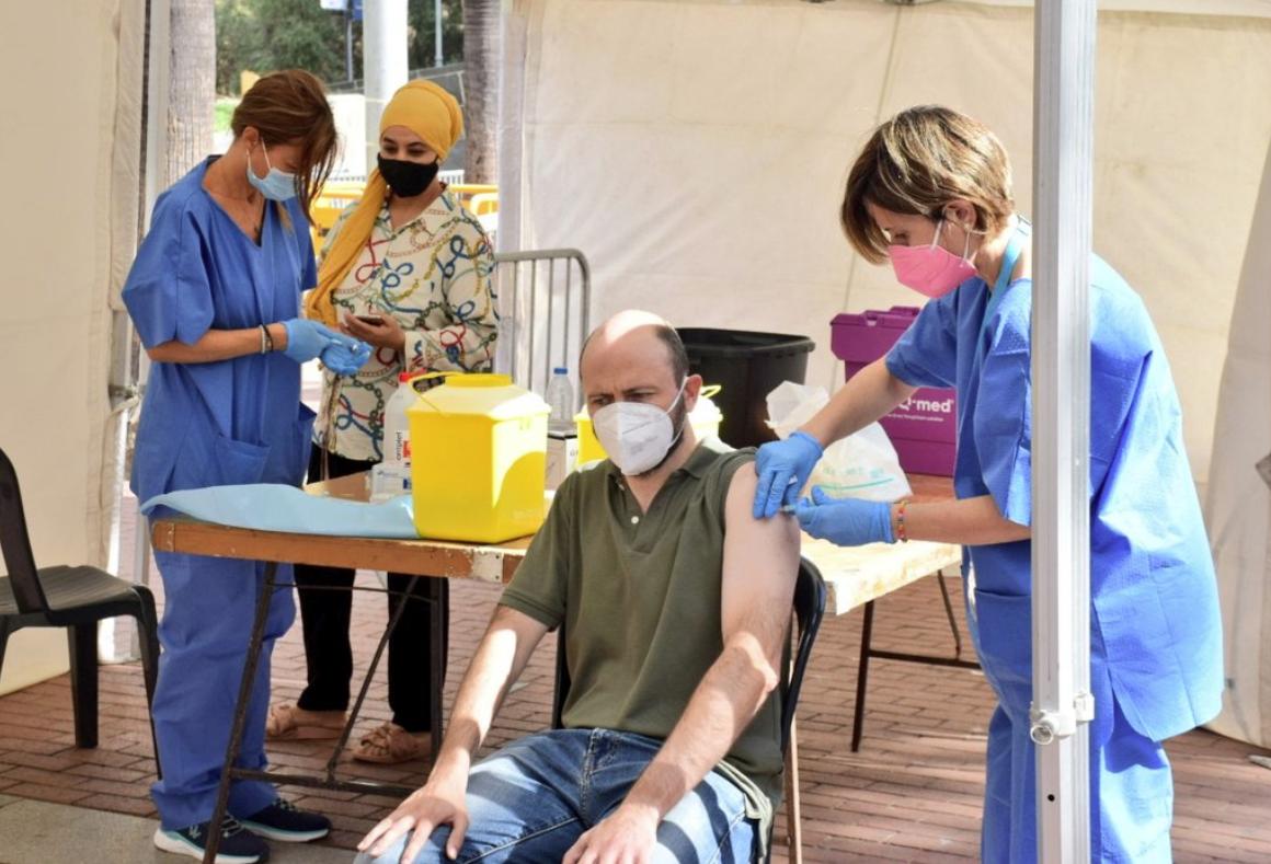 Punt de Punto de vacuncación en Ciutat Meridiana