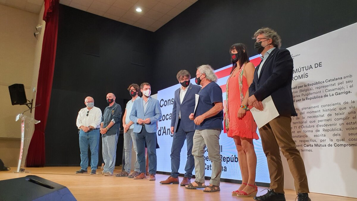 Carles Puigdemont, en un acte del Consell per la República
