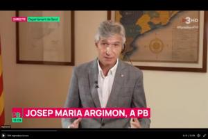 El consejero de Salud, Josep Maria Argimon, en una entrevista en 'Planta Baixa'