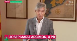 El conseller de Salut, Josep Maria Argimon, en una entrevista a 'Planta Baixa'