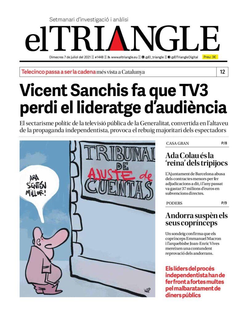 Vicent Sanchis fa que TV3 perdi el lideratge d'audiència