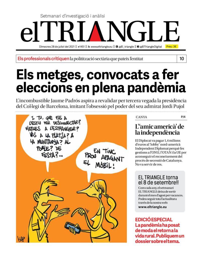 Els metges, convocats a fer eleccions en plena pandèmia