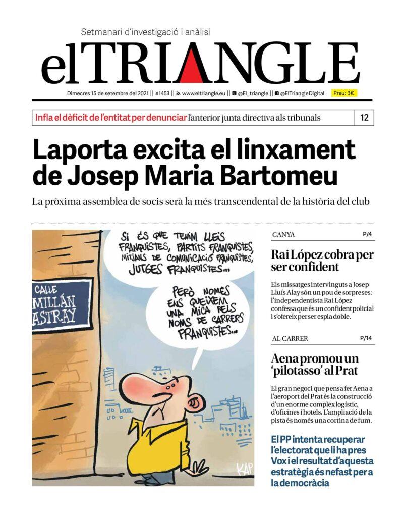 Laporta excita el linxament de Josep Maria Bartomeu