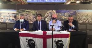 Comparecencia de Puigdemont en Cerdeña