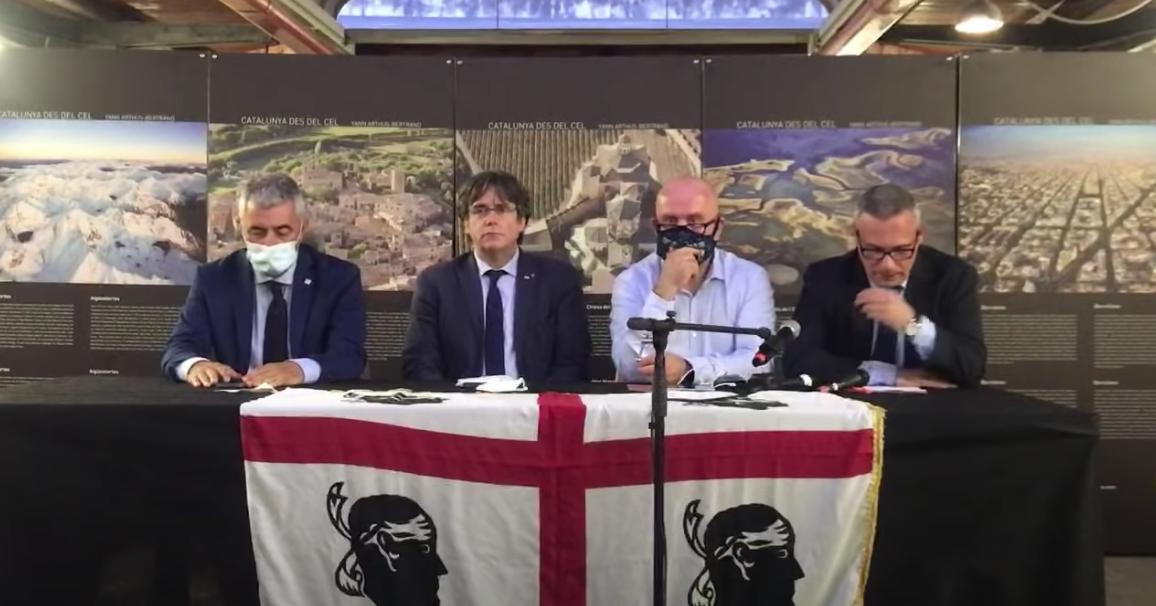 Compareixença de Puigdemont a Sardenya