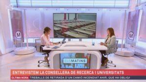 Entrevista a la consellera Gemma Geis, a 'Els Matins' de TV3