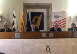 Compareixença pública de Puigdemont a Sardenya