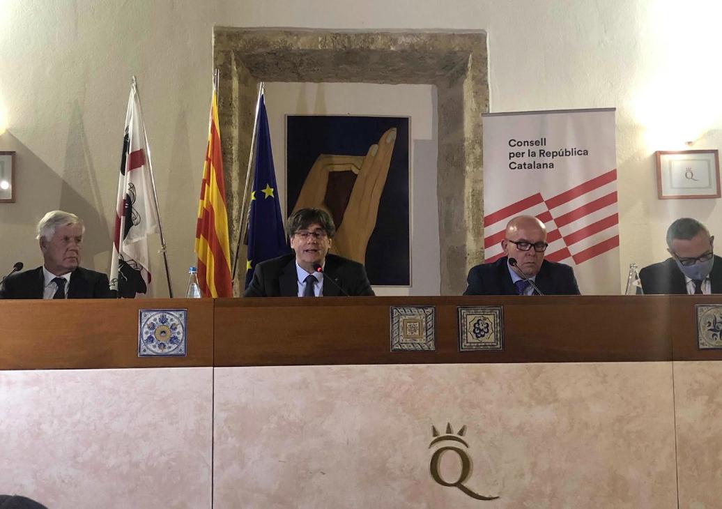 Comparecencia pública de Puigdemont en Cerdeña