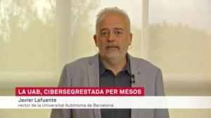El rector de la UAB, Javier Lafuente