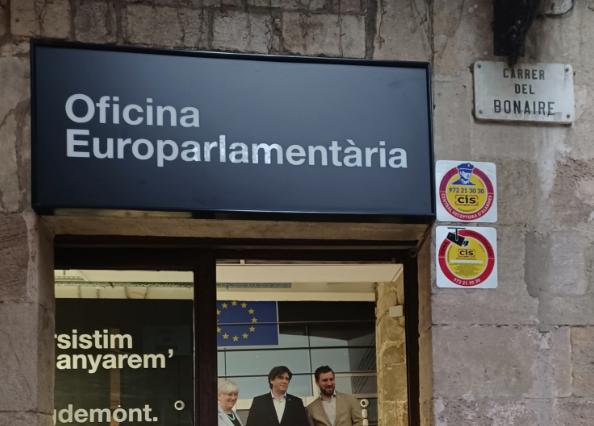 L'oficina dels europarlamentaris de Junts