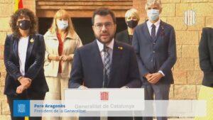 Discurso del presidente catalán Pere Aragonès