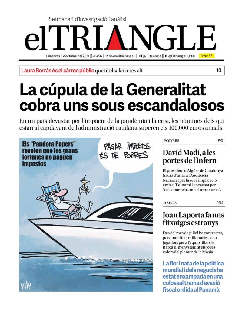 La cúpula de la Generalitat cobra uns sous escandalosos